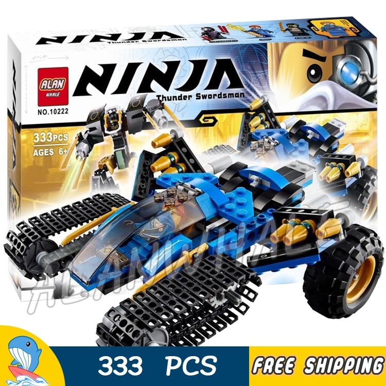 333pcs Bela 10222 Ninja Chariot Thunder Raider Building Blocks sets Bricks Classic Boys toys Compatible With lego movie 1351pcs bela 06039 ninja samurai x cave chaos building blocks jay lloyd toys compatible with lego