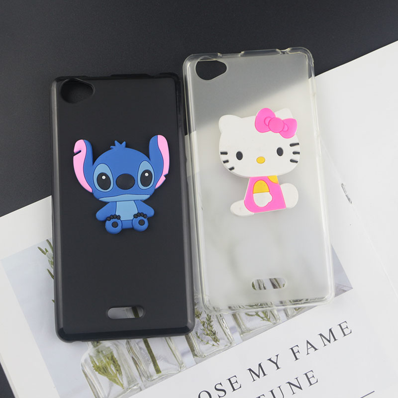 Soft TPU Case for BQ Mobile BQ 5060 Slim Cases Stitch Kitty Minnie Flower Tiger Bee Diamond Coffee Milk Phone Cover