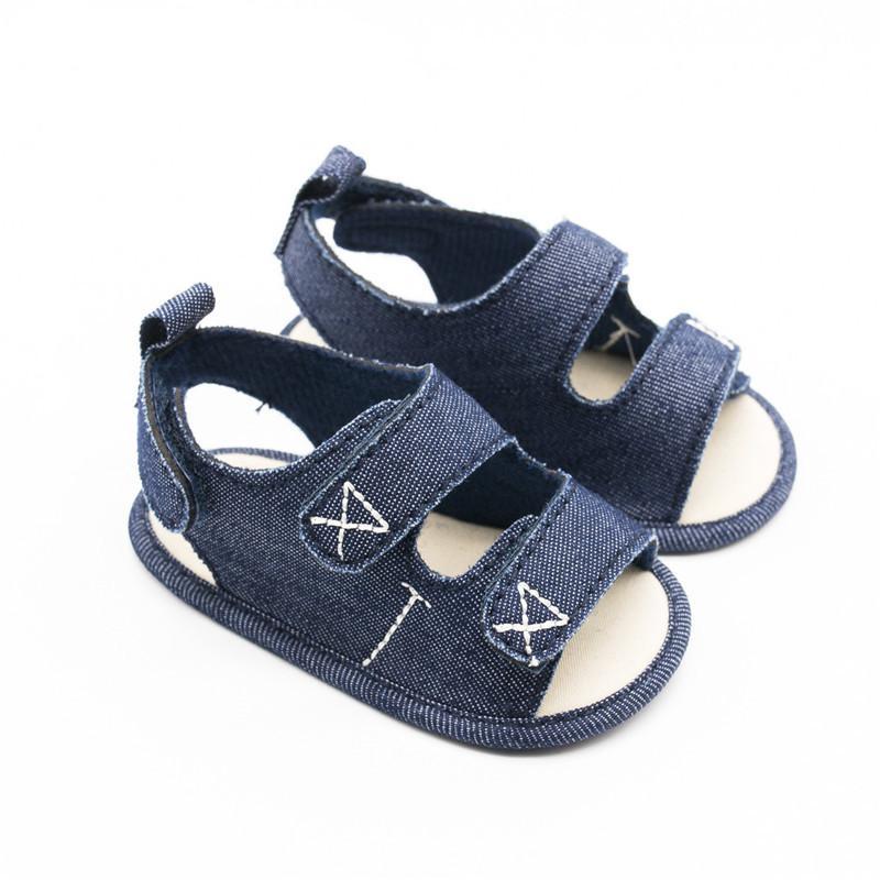 Adela Flower Brand New Baby Boy Sandals Indoor Canvas Soft Soled Kids Infant Toddler Baby Boy Summer Shoes bebek sandalet 0-18M