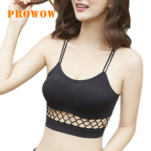 Prowow Cross-wrapped Underwear with Ring-free Light-proof Bottom Camisoles Women Intimates Sexy Wrap chest