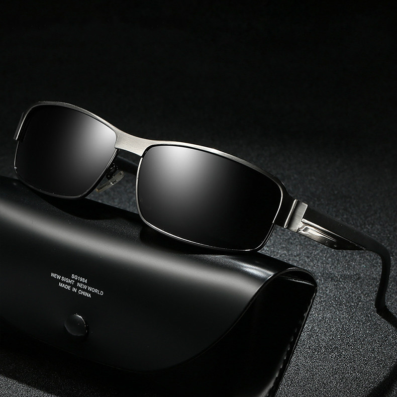 Alumínio óculos de sol polarizados 2018 mercedes marca de luxo designer para masculino lunette soleil homme zonnebril mannen