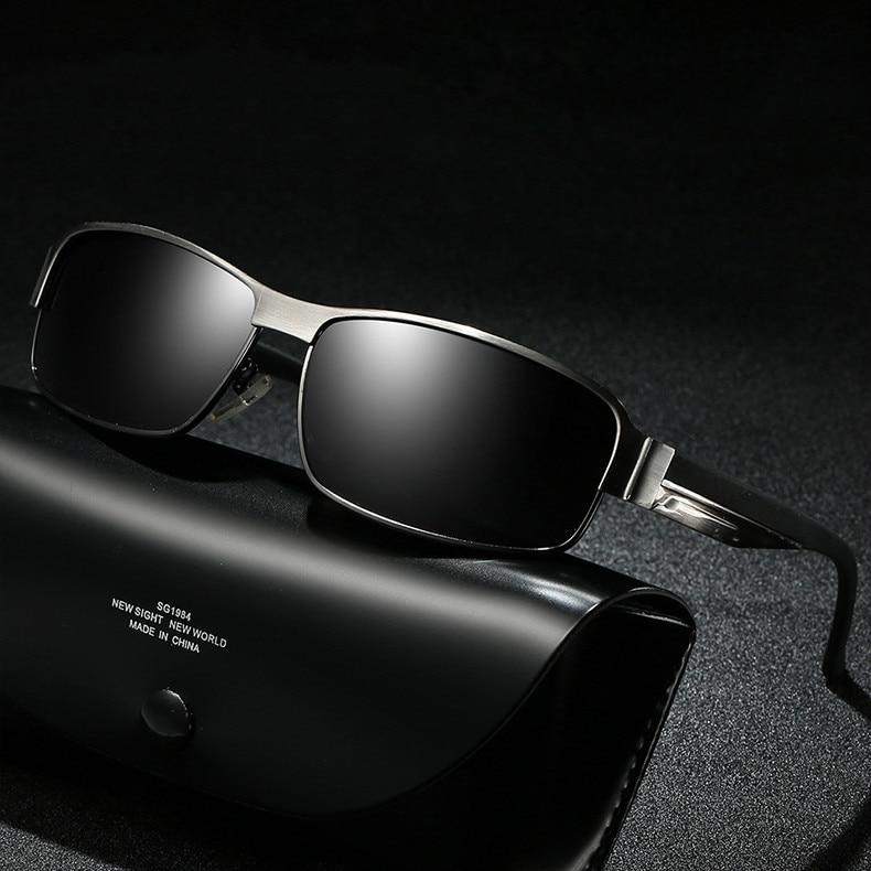 Gafas de sol de aluminio polarizadas para hombre 2018 Mercedes marca de lujo gafas de sol de diseñador para hombre lunette soleil homme zonnebril mannen