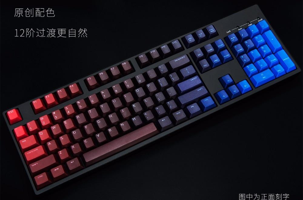 все цены на  Dye 104 PBT keycaps for mechanical keyboard  thick PBT keycap cherry mx  poker 61 keyboard ANSI dye laser printing  онлайн