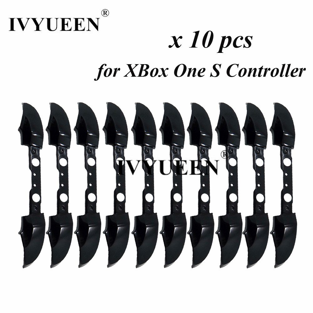 IVYUEEN 10 PCS Silver Black Buttons For Xbox One S Controller RB LB Bumper Trigger Button Mod Kit Replacement Repair Parts