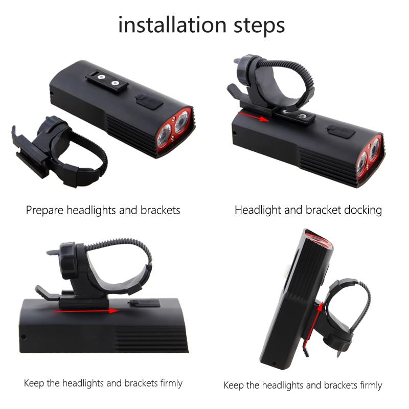 VastFire Waterproof Rechargeable Bike Light Set Powerful Lumens 2 LED lamp beads USB Bicycle Light Lamp Torch Flashlight