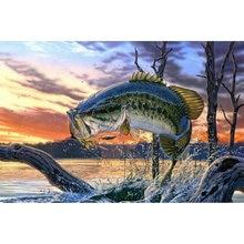 Yikee Алмазная картина большая рыба алмазная полный квадрат