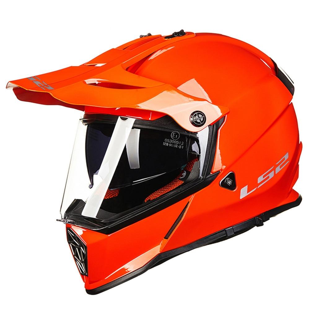 LS2 Dual Sports MX436 PIONEER Motorcycle Helmet Motocross Off Road Biker Casque Casco Moto Capacetes de Motociclista