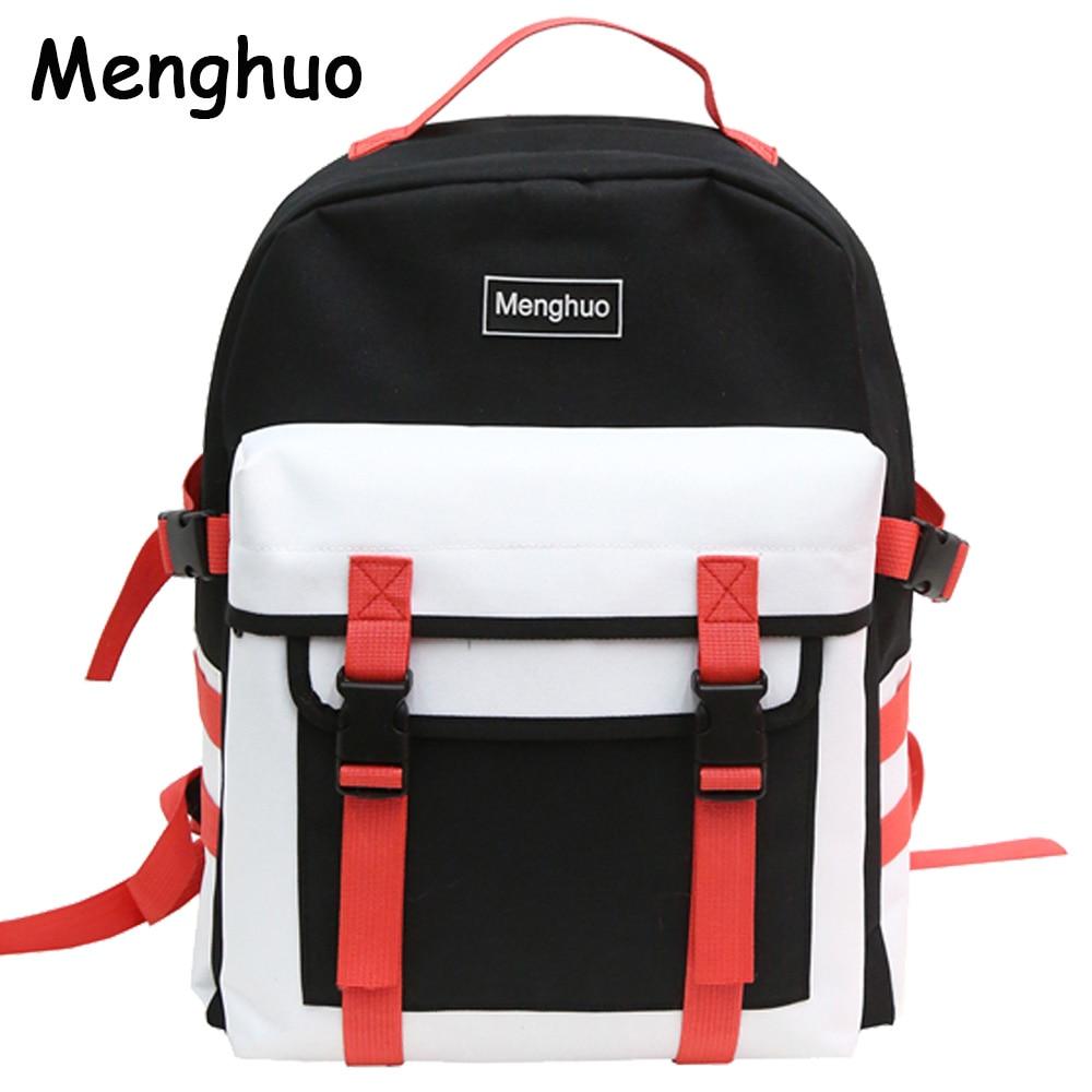 Aliexpresscom  Buy Menghuo Fashion Black Women Backpack Canvas Men School Backpacks -5865