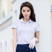 brand POLO. women's golf clothes golf T shirt short-sleeve polo shirt slim Workout Polo Shirt, Fitness sexy Sport Dri-Fit