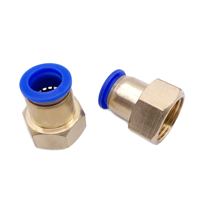 1PCS Pneumatic Quick Connector PCF 4MM 6MM 8MM 10MM 12mm Hose Tube Air Fitting 1/4