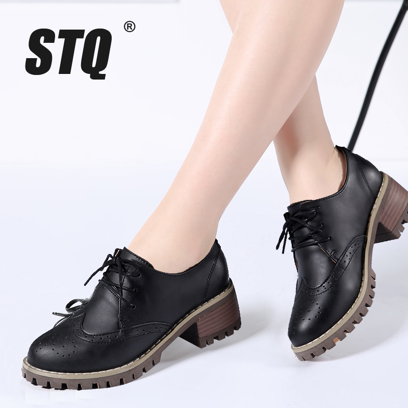 2018 Womens Stilettos Heels Ankle Boot Casual Lace Up Shoes Pointed Toe Brogues