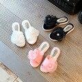Детские Тапочки Девушки Цветы Шифона Слово Перетащить Детская Обувь Сладкая Жемчужина Принцесса Обувь Мода Красивые нескользящей 2017 летом