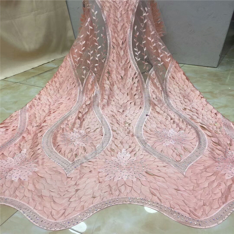 Nuevo tejido de encaje africano de nueva llegada, tejido de encaje guipur de encaje de alta calidad para vestido de fiesta. nigeria piedras de encaje-in encaje from Hogar y Mascotas    1