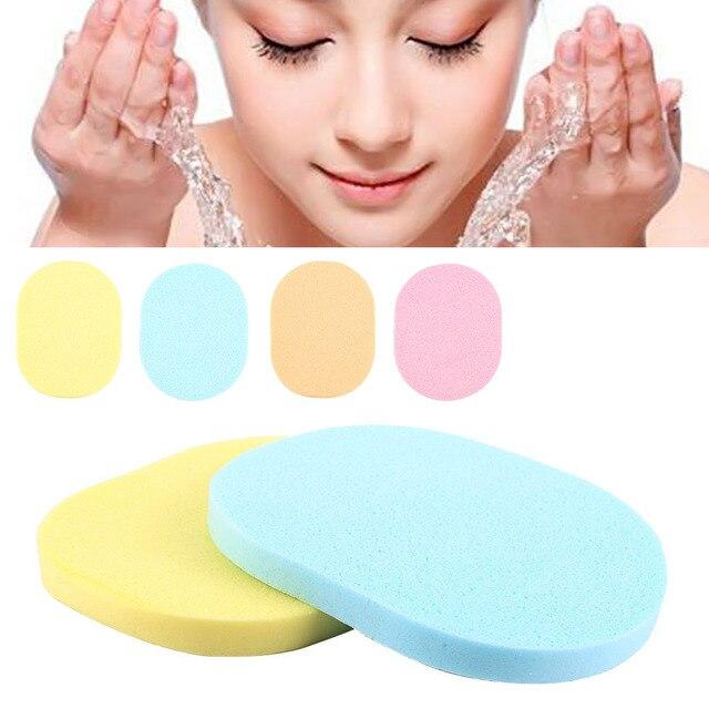 Hot Sale 2 pçs/saco Naturais Esponja Facial Wash lavagem Puff Maquiagem Ferramenta Cosméticos Puff Macio Durável