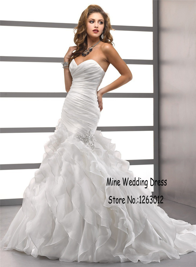 Online Buy Wholesale wedding dresses mermaid ruffles from China ...