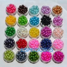 100 pcs DIY Jewelry Accessory 25 Different Color 10MM Round Shape Acrylic Imitation Pearl Beads Bracelet Making Findings