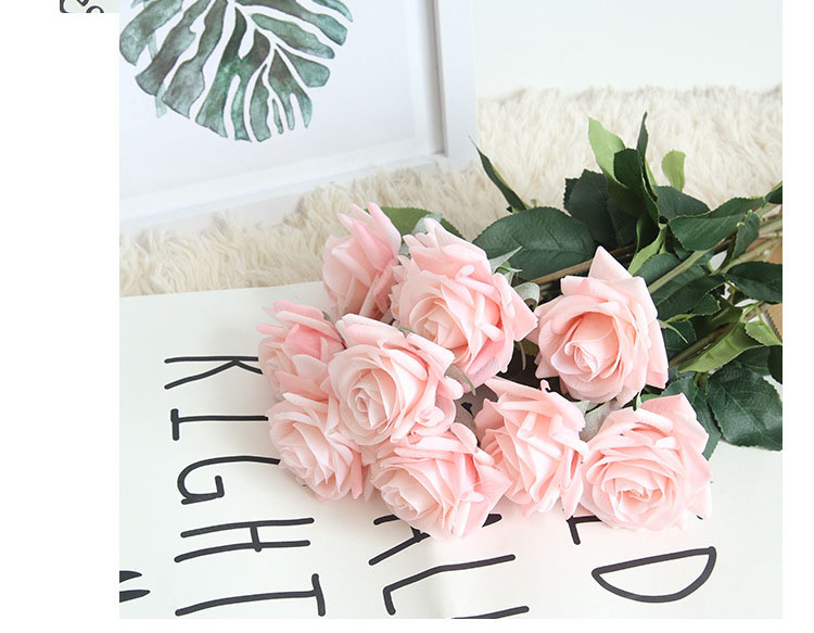 Real touch roses artificial flower wedding home decoration (10)