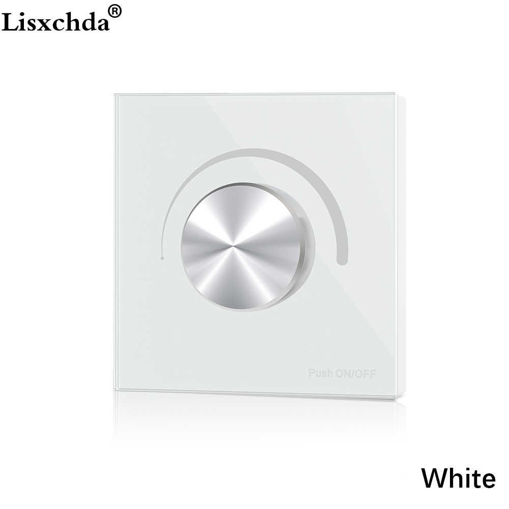 AC triak ściemniacz LED 220V 230V 110V ściemnialna gałka przełącznik sterowanie Push dla żarówka LED lampy (biały/czarny)