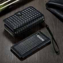 Wallet Case For Samsung Galaxy S10 Plus S10e Cover Lanyard Detachable Braid Leather Zipper Flip Bag S10Plus