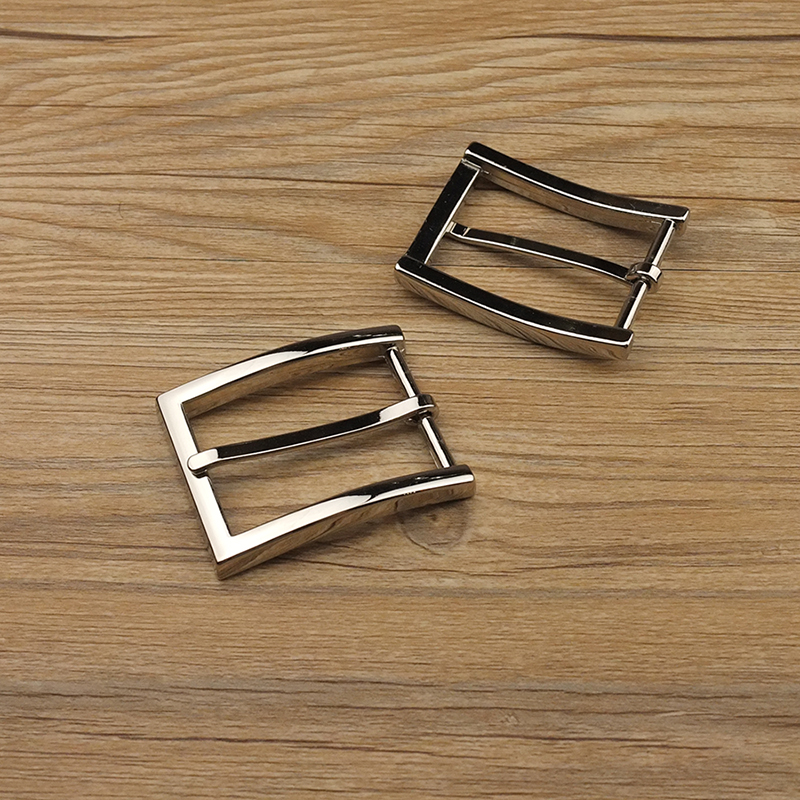 Textured Leather Craft Hardware 1-3//8/'/' 35mm Pin Buckle Belt Brushed Newest