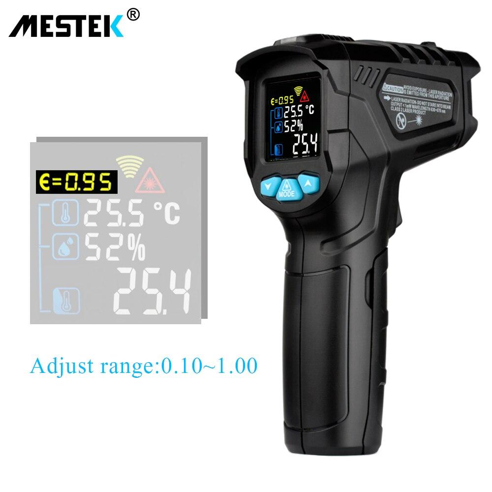 MESTEK IR01 Termometro Digitale Tester di Umidità A Infrarossi Termometro Igrometro Temperatura Esterna Pirometro Acquario laser