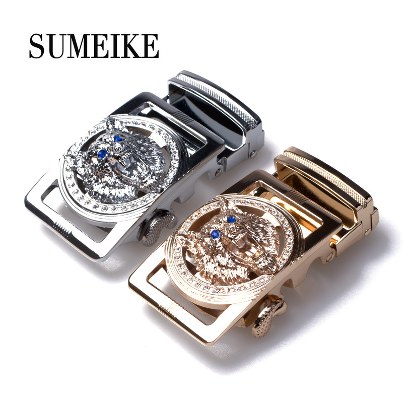 Automatic Belt Buckles For Men High Quality Luxury Brand Alloy Mens Belt Buckle Head Gold/Silver