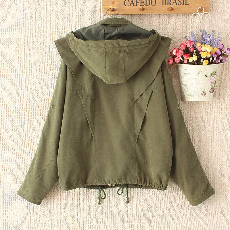 2016-spring-new-bat-sleeve-loose-casual-windbreaker-hooded-women-parka-jacket-coat-navy-blue-army