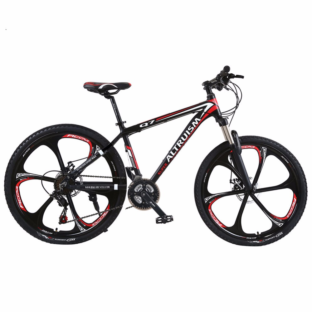 Altruism Q7 Mountain Bike 21 Speed Aluminum MTB 26 Bicycle Braking Bikes for Mens Road Racing Black Bicycle 26 inch 7 21 27speed cross country mountain bike aluminum frame snow beach 4 0 oversized bicycle tire dirt bikes for men