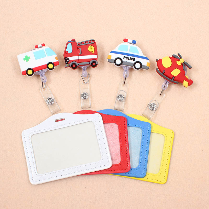 Cute The Ambulance Ship Retractable Badge Reel Silicone Student Nurse Exihibiton ID Name Card Badge Holder Office Supplies
