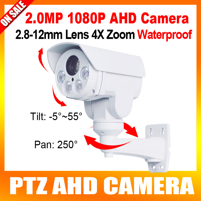 2MP Waterproof HD1080P PTZ AHD Camera CCTV Outdoor 1/3 Sony Exmor CMOS Sensor,4X Optical Zoom,IR 30M new 2mp hd cctv ahd camera 1080p zoom 2