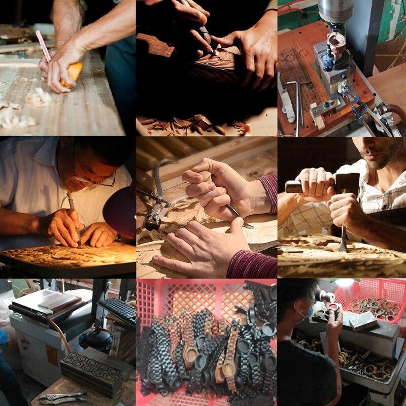 Creative Compass Dial Wood Watch Men Bamboo Watch Male Clocks Retro Full Wooden Wrist Quartz Watch Top Luxury Mens Watches 2019 2020 2022 2023 (11)