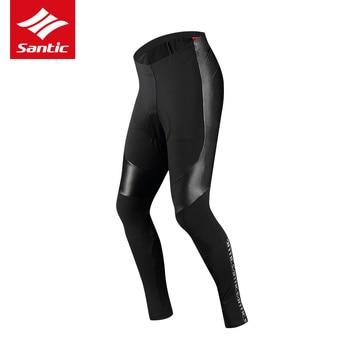 Santic 2019 New Winter Men Cycling Fleece Thermal Riding Pants Long Padded Pants 4D Cushion Pad Keep Warm Bike Tights Asian
