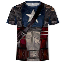 2019 Marvel Superhero T-Shirt 3D Captain America/ Superman/Spiderman/Batman/Black Panther Men