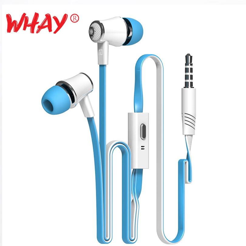 Whay Hi-fi Earphones In Ear Color Headphone with Microphone Headset for iPhone Android Mobile Phone Bass Earbuds Stereo Earphone