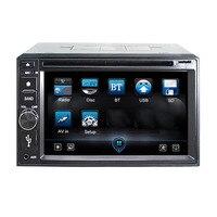 Универсальный Автомобильный Bluetooth DVD плеер мощный электронный анти шок 6,2 дюймов емкостный сенсорный экран рулевое колесо управление