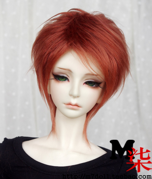 Beautiful red fur wigs available for 1/3 1/4 1/6 BJD SD Wigs short wig for DIY dollfie doll accessories фигурка jakks pacific warcraft blackhand