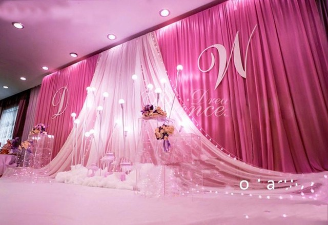 3m6m wedding curtain backdrops with yarn swag stage decorations 3m6m wedding curtain backdrops with yarn swag stage decorations backdrop wedding props ceiling backdrop junglespirit Choice Image