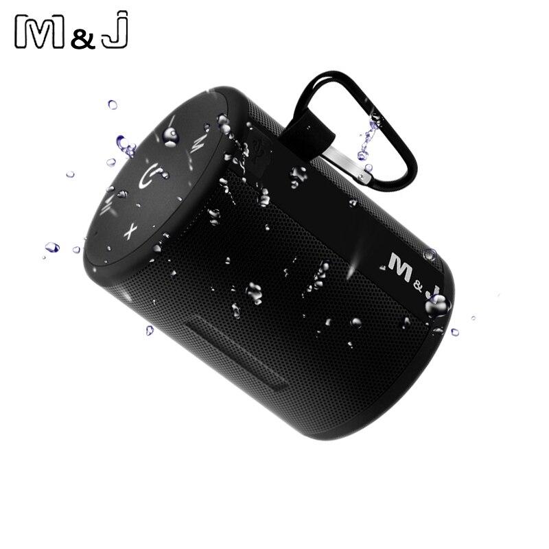 M & j t2 mini ao ar livre à prova dwireless água sem fio bluetooth alto-falante portátil caixa de graves coluna série conexão design para iphone samsung
