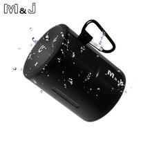 M&J T2 Mini Outdoor Waterproof Wireless Bluetooth Speaker Portable Bass Box Column Series Connection Design for iPhone Samsung