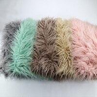 Newborn Photography Props Blankets Soft Long Fur Plush Baby Blanket Basket Flokati Stuffer Faux Fur Fotografia