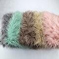 Adereços Fotografia de recém-nascidos Cobertores, Soft Pêlo Longo de Pelúcia Cobertor Do Bebê Cesta Stuffer Flokati, Faux Fur Fotografia Pano de Fundo 1 M * 1.6 M