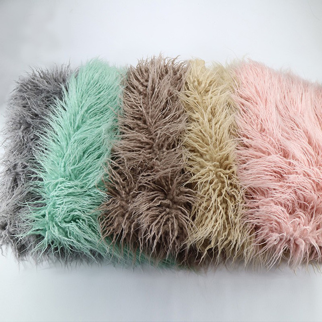 newborn photography props blankets soft long fur plush baby blanket basket flokati stuffer faux fur fotografia backdrop 1m 1 6m
