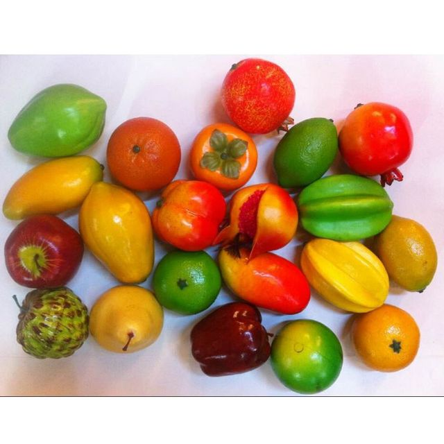 10PCS Artificial Fruits Fake Fruit Mix Foam Fruit Vegetables Models For New  Year Wedding Party Window