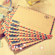80pcs/lot 17.5*12.5cm Vintage kraft paper envelope packaging mailing fresh couple stamps writing love letter postman