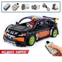 640 PCS Compatible with lego building block Technic MOC 6604 Hatchback Type RC Car Model building blocks bricks toys