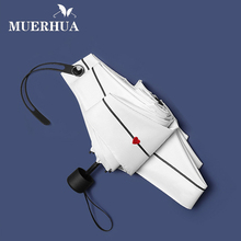 MUERHUA 2018 Fashion Small Heart Mini Pocket Umbrella Women Anti-UV Five Folding Sunny and Rainy Men Umbrella Durable Parasol