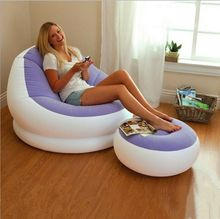 Creative Home Furnishing straight PVC inflatable sofa sofa flocking flocking lazy inflatable sofa