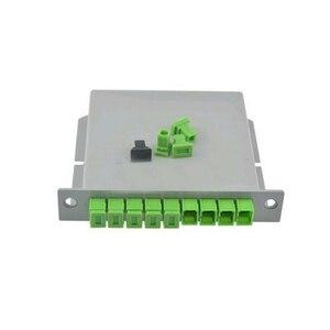 Image 3 - 10 pièces/paquet SC APC PLC 1X8 séparateur boîte à fibres optiques FTTH PLC diviseur boîte avec 1X8 planaire guide dondes type séparateur optique