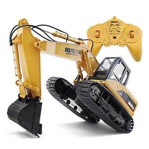 Image 2 - Excavadora teledirigida de 15 canales para niños, excavadora de aleación con batería, 2020G, 2,4, 1/14
