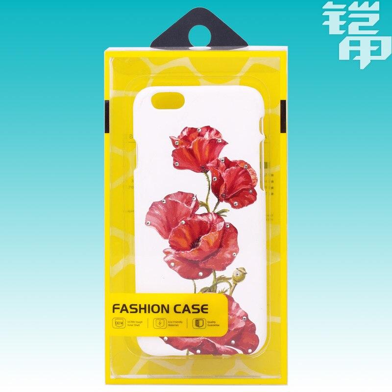 Kj-553 500 шт. прозрачный ПВХ Пластик Розничная упаковка Вышивка Крестом  Пакет коробка для iPhone 6 s 6 S Plus чехол для мобильного телефона Оптовая 3c12210307a